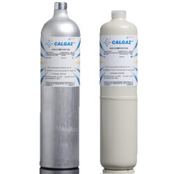 KDF Calgaz 8AL and 6D_6DM calibration gas cylinders